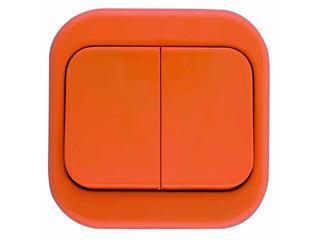 Łącznik natynkowy MILLENIUM podwójny PLM.W-2.PM.BK pomarańczowy Polmark