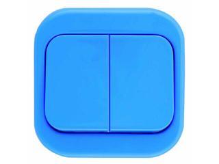 Łącznik natynkowy MILLENIUM podwójny PLM.W-2.NI.BK niebieski Polmark