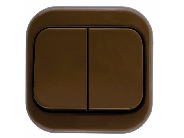 Łącznik natynkowy MILLENIUM podwójny PLM.W-2.BR.BK brązowy Polmark