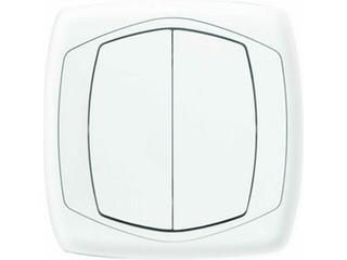 Łącznik natynkowy COMFORT dwugrupowy (świecznikowy) ŁP-2X.BI biały Polmark