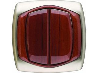 Łącznik COMFORT dwugrupowy (świecznikowy) ŁP-2X.ST/MA satynowy, mahoniowy Polmark