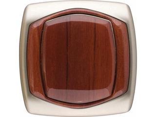 Łącznik natynkowy COMFORT krzyżowy ŁP-4X.ST/MA satynowy, mahoniowy Polmark