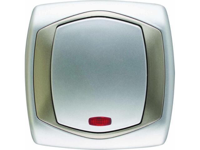 Łącznik natynkowy COMFORT zwierny dzwonek z podśw. ŁP-6XS.SR/ST srebrny, satynowy Polmark
