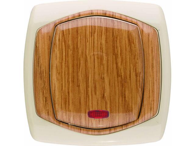 Łącznik natynkowy COMFORT schodowy z podświetleniem ŁP-3XS.JB/DĄ jasnobeżowy, dębowy Polmark