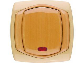 Łącznik natynkowy COMFORT schodowy z podświetleniem ŁP-3XS.CB/GR ciemnobeżowy, gruszkowy Polmark