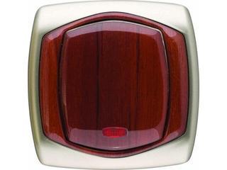 Łącznik COMFORT jednobiegunowy z podśw. ŁP-1XS.ST/MA satynowy, mahoniowy Polmark