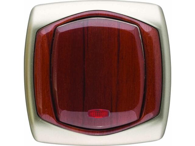 Łącznik COMFORT krzyżowy z podświetleniem ŁP-4XS.ST/MA satynowy, mahoniowy Polmark