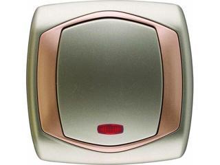 Łącznik natynkowy COMFORT zwierny dzwonek z podśw. ŁP-6XS.ST/MI satynowy, miedziany Polmark