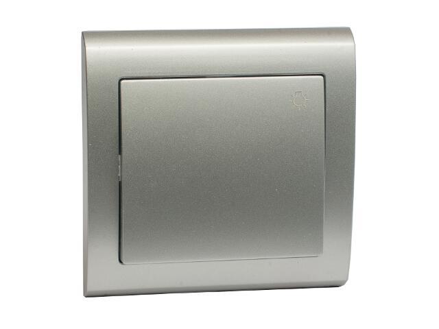 Łącznik natynkowy AURA światło ŁP-5U srebrny Polmark