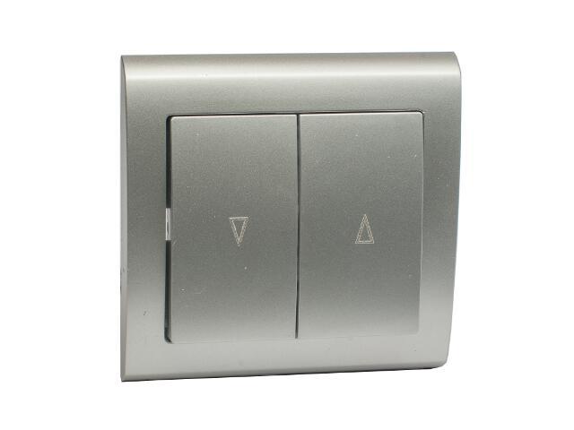 Łącznik natynkowy AURA żaluzjowy ŁP-7U srebrny Polmark