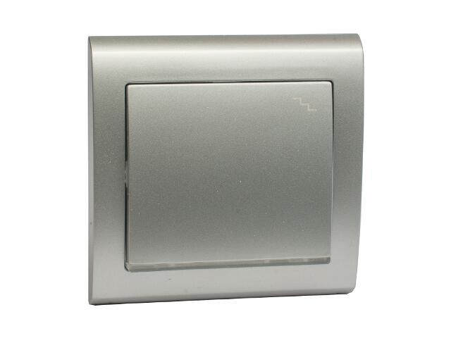 Łącznik natynkowy AURA schodowy z podświetleniem ŁP-3US srebrny Polmark