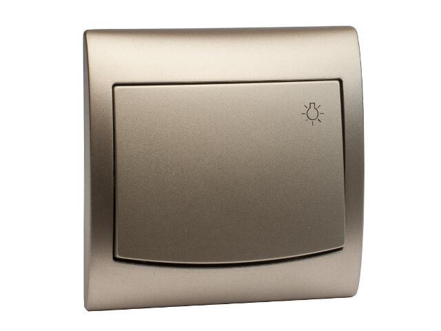 Łącznik natynkowy VEGA światło ŁP-5V satynowy Polmark