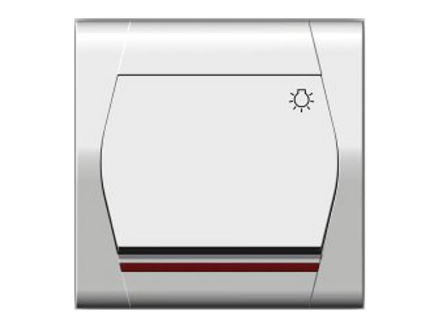 Łącznik natynkowy FESTA światło z podświetleniem ŁPT-1S+n biały Elektro-plast N.