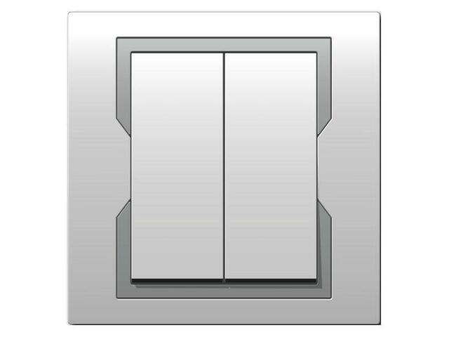 Łącznik QUATTRO świecznikowy ŁPT-5 biały srebrny Elektro-plast N.