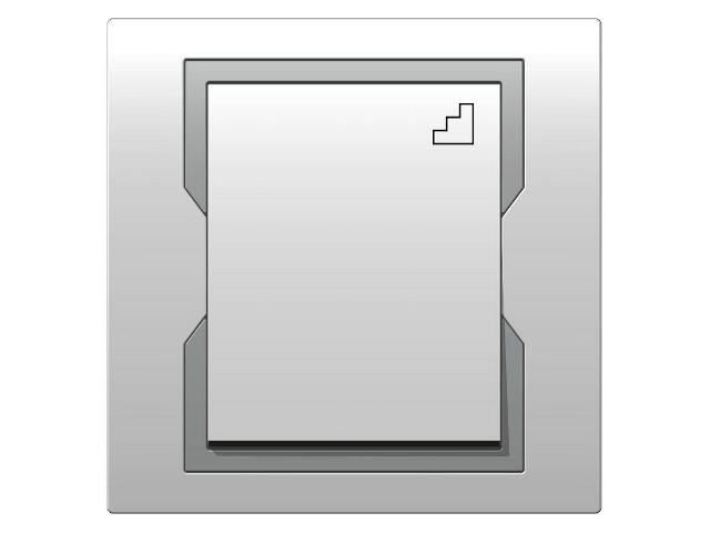 Łącznik QUATTRO schodowy ŁPT-6 biały srebrny Elektro-plast N.