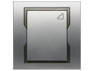 Łącznik natynkowy QUATTRO schodowy ŁPT-6 srebrny grafitowy Elektro-plast N.