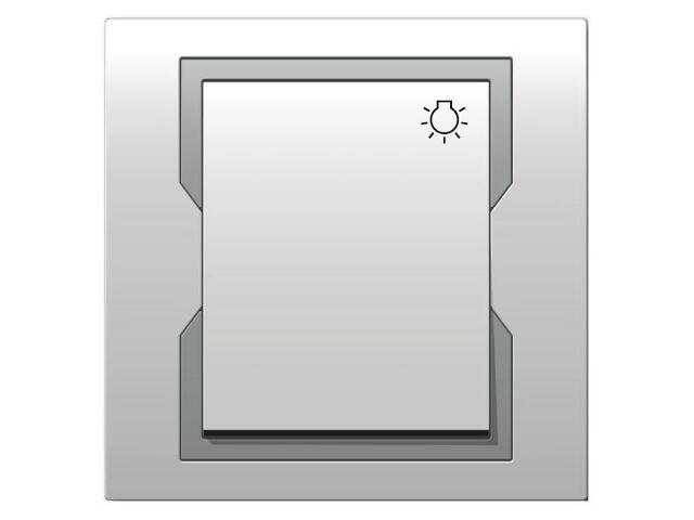 Łącznik natynkowy QUATTRO światło ŁPT-1S biały srebrny Elektro-plast N.