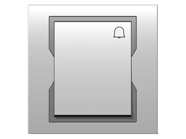 Łącznik QUATTRO dzwonek ŁPT-1D biały srebrny Elektro-plast N.
