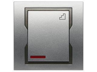 Łącznik natynkowy QUATTRO schodowy z podświetleniem ŁPT-6+n srebrny grafitowy Elektro-plast N.