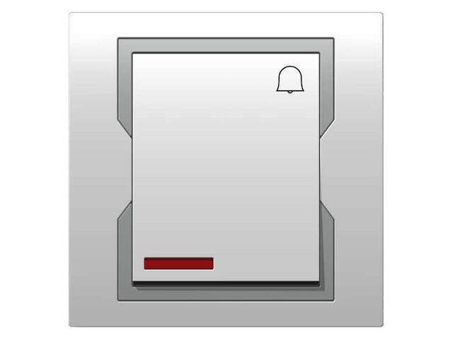 Łącznik natynkowy QUATTRO dzwonek z podświetleniem ŁPT-1D+n biały srebrny Elektro-plast N.