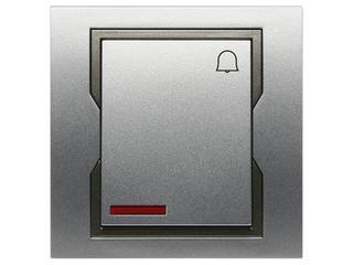 Łącznik QUATTRO dzwonek z podświetleniem ŁPT-1D+n srebrny grafitowy Elektro-plast N.