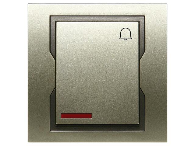 Łącznik natynkowy QUATTRO dzwonek z podświetleniem ŁPT-1D+n satynowy grafitowy Elektro-plast N.
