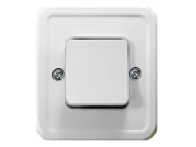Łącznik natynkowy PI jednobiegunowy biały Ospel