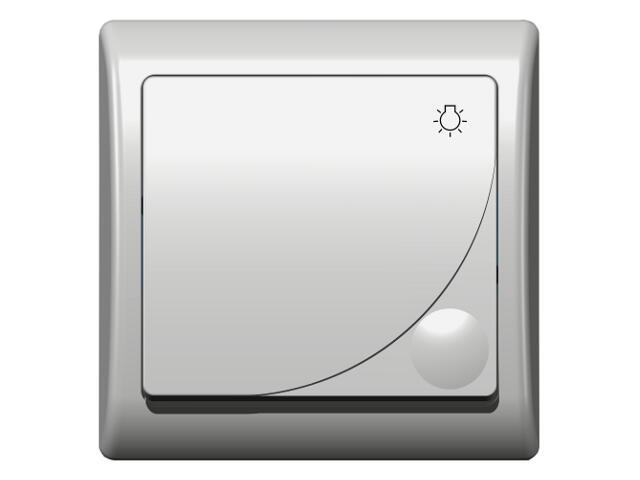 Łącznik EFEKT zwierny światło biały Ospel