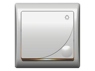 Łącznik natynkowy EFEKT zwierny światło z podśw. biały Ospel