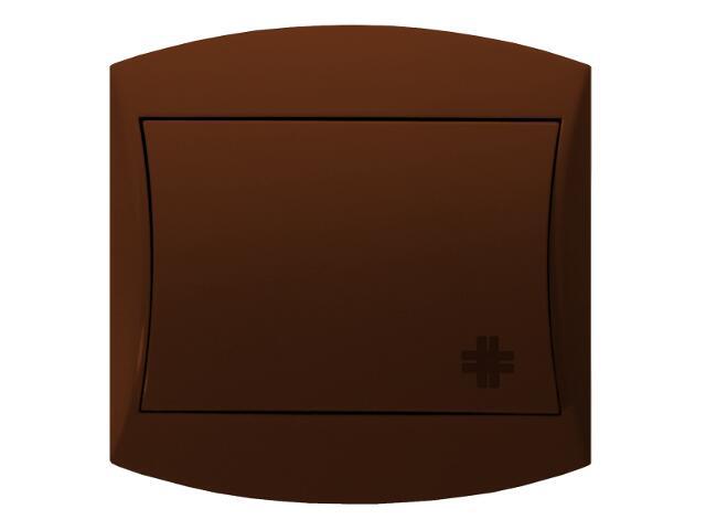 Łącznik natynkowy TOP krzyżowy brązowy Ospel