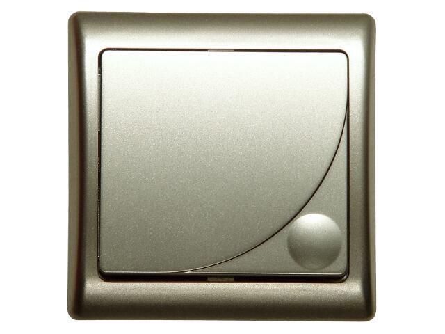 Łącznik natynkowy EFEKT METALIC zwierny światło satyna Ospel