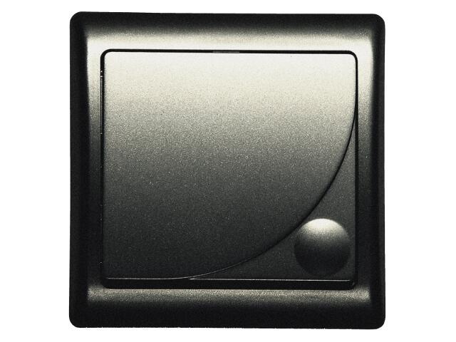 Łącznik natynkowy EFEKT METALIC krzyżowy z podśw. grafit Ospel