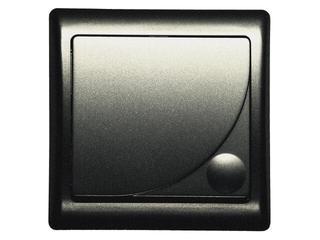 Łącznik natynkowy EFEKT METALIC zwierny światło z podśw. grafit Ospel