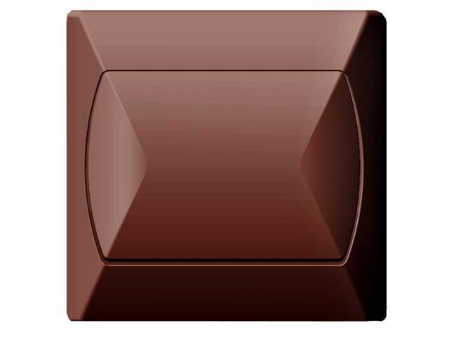 Łącznik AKCENT jednobiegunowy brązowy Ospel