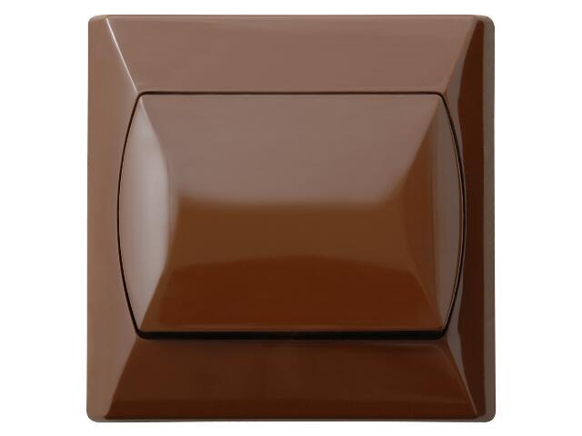 Łącznik natynkowy AKCENT krzyżowy brązowy Ospel