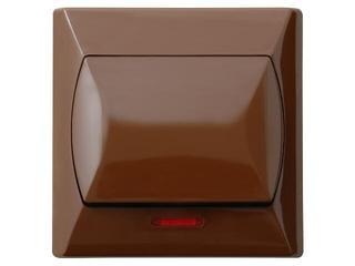 Łącznik natynkowy AKCENT zwierny dzwonek z podśw. brązowy Ospel