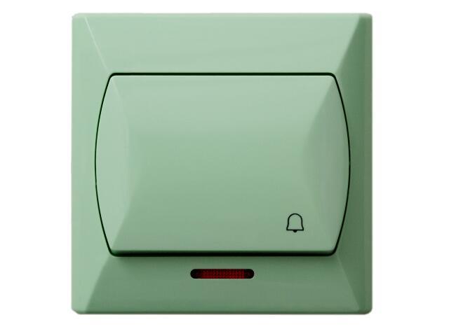 Łącznik natynkowy AKCENT zwierny dzwonek z podśw. seledynowy Ospel