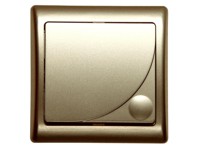 Łącznik natynkowy EFEKT METALIC zwierny dzwonek z podśw. piasek Ospel