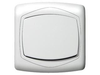 Łącznik TON jednobiegunowy biały Ospel