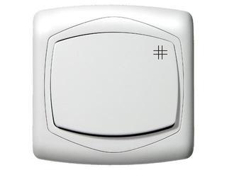 Łącznik natynkowy TON krzyżowy biały Ospel