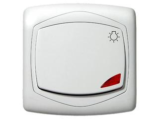 Łącznik natynkowy TON zwierny światło z podśw. biały Ospel
