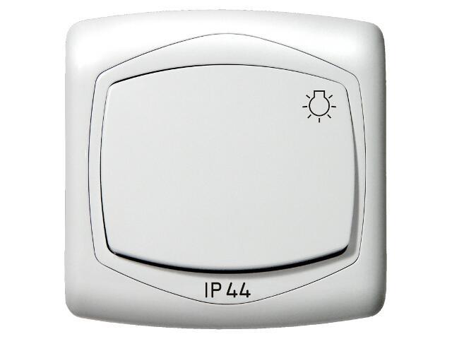 Łącznik natynkowy TON zwierny światło IP-44 biały Ospel