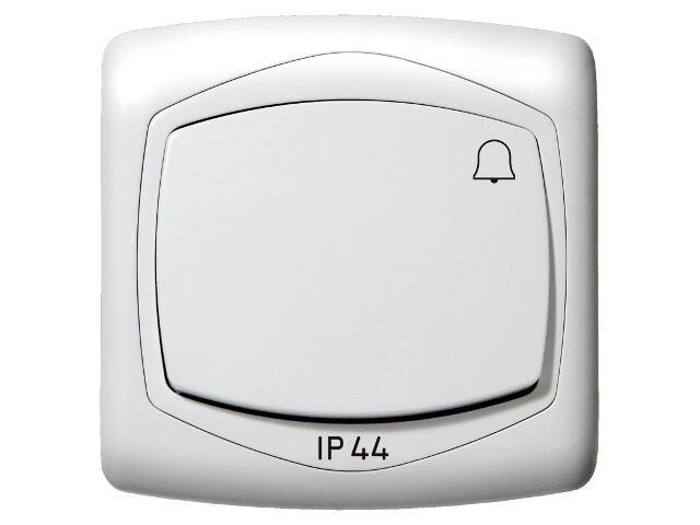 Łącznik natynkowy TON zwierny dzwonek IP-44 biały Ospel