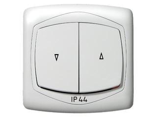 Łącznik natynkowy TON żaluzjowy IP-44 biały Ospel
