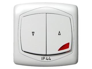 Łącznik natynkowy TON żaluzjowy z podśw. IP-44 biały Ospel