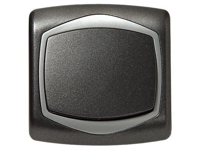 Łącznik natynkowy TON METALIC schodowy grafit srebro Ospel