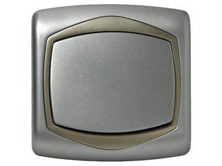 Łącznik TON METALIC jednobiegunowy srebro satyna Ospel