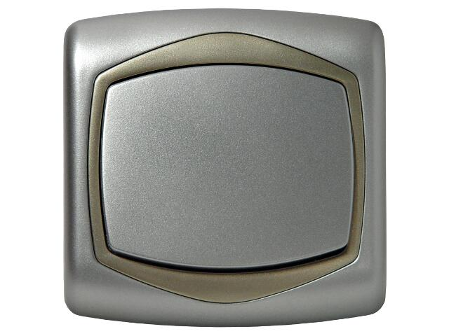 Łącznik natynkowy TON METALIC zwierny dzwonek srebro satyna Ospel