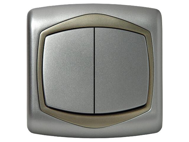 Łącznik natynkowy TON METALIC żaluzjowy srebro satyna Ospel