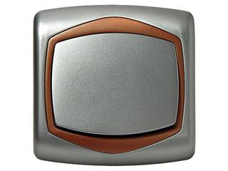 Łącznik TON METALIC jednobiegunowy srebro miedź Ospel